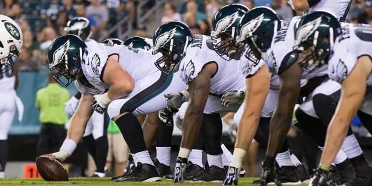 Philadelphia Eagles team in action